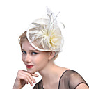 cheap Party Headpieces-Tulle / Feather / Net Fascinators with 1 Wedding / Special Occasion Headpiece