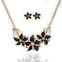 baratos Acessórios para Cabelos-Mulheres Conjunto de jóias - Flor Básico Incluir Preto / Azul Escuro / Roxo Para Festa / Ocasião Especial / Casual