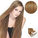 baratos Extensões de Cabelo com Adesivo-Com Adesivo Extensões de cabelo humano Liso Extensões de Cabelo Natural Cabelo Humano Mulheres - Ash Brown