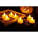 preiswerte Bahn Lichter-Set von 12 premium flammenlose Teelichter mit Timer batteriebetriebene Kerzen lange Akkulaufzeit Batterie enthalten.