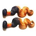 billige Blondeparykker med menneskehår-Ekte hår Remyfletninger av menneskehår Krop Bølge Malaysisk hår 200 g 1 år