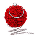 cheap Clutches & Evening Bags-Women's Bags Polyester Tote Flower Red / Pinky
