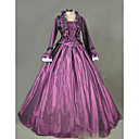 cheap Historical & Vintage Costumes-Rococo / Victorian Costume Women's Dress / Party Costume / Masquerade Purple Vintage Cosplay Satin / Other Long Sleeve Cap Sleeve Floor