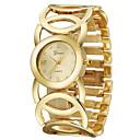 baratos Relógios de Pulseira-Mulheres Relógio de Pulso Relógio Casual / Legal Aço Inoxidável Banda Rígida Dourada