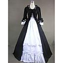 preiswerte Lolita Kleider-Gothic / Viktorianisch / Mittelalterlich Kostüm Damen Kleid / Party Kostüme / Maskerade Schwarz Vintage Cosplay Baumwolle / Other Langarm