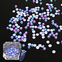 cheap Rhinestone & Decorations-1bottle fashion gorgeous magic gradient color mermaid nail art 3d decoration half round flat back pearl for nail diy beauty