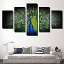 cheap Rolled Canvas Prints-Rolled Canvas Prints Modern/Contemporary, Five Panels Horizontal Print Wall Decor Home Decoration
