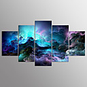 cheap Stretched Canvas Prints-Stretched Canvas Print Five Panels Horizontal Print Wall Decor Home Decoration