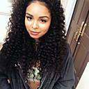 olcso Emberi hajból készült parókák-Emberi haj Tüll homlokrész Csipke eleje Paróka Kinky Curly Paróka 180% Haj denzitás Természetes hajszálvonal Afro-amerikai paróka 100% kézi csomózású Női Rövid Közepes Hosszú Emberi hajból készült