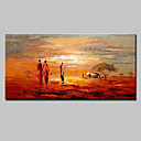 cheap Oil Paintings-Oil Painting Hand Painted - Landscape Modern European Style Stretched Canvas