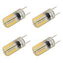 رخيصةأون سبوت لايتس LED-4PCS 3W 350-400lm أضواء LED Bi Pin T 64 الخرز LED SMD 3014 أبيض دافئ أبيض كول 220-240V
