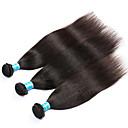 billige Herrearmbånd-3 pakker Malaysisk hår Yaki Ekte hår Menneskehår Vevet Hårvever med menneskehår Hairextensions med menneskehår