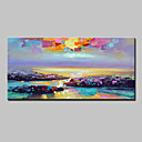 cheap Abstract Paintings-Oil Painting Hand Painted - Landscape Modern Canvas