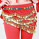 cheap Toy Instruments-Belly Dance Hip Scarves Women's Performance Polyester Rhinestone Sequin Belt