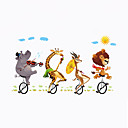 cheap Wall Stickers-Decorative Wall Stickers - Plane Wall Stickers Animals Sports Cartoon Living Room Bedroom Bathroom Kitchen Dining Room Study Room /