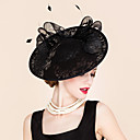 cheap Party Headpieces-Lace / Feather Headbands / Fascinators with 1 Special Occasion / Outdoor Headpiece