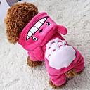 billige Hundetøj-Kat Hund Frakker Hættetrøjer Jumpsuits Bukser Hundetøj Dyr Grå Rose Brun Polarfleece Kostume For kæledyr Herre Dame Cosplay Hold Varm