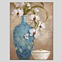 baratos Pinturas de Natureza Morta-Pintura a Óleo Pintados à mão - Vida Imóvel Clássico Modern Tela de pintura