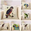 cheap Pillow Covers-6 pcs Cotton / Linen Pillow Cover / Pillow Case, 3D Print / Animal / Fashion Vintage / Casual / Retro