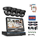 cheap DVR Kits-SANNCE® 8CH 4PCS 720P Weatherproof Surveillance Security System 4IN1 1080P LCD DVR Monitor Supported TVI Analog AHD