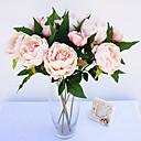 abordables Flores Artificiales-Flores Artificiales 1 Rama Estilo Simple Peonías Flor de Mesa
