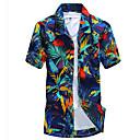 baratos Acessórios para PS4-Homens Camisa Social - Praia Boho Estampado, Geométrica Colarinho Clássico Delgado / Manga Curta
