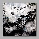 billige Oljemalerier-Hang malte oljemaleri Håndmalte - Abstrakt Abstrakt / Art Deco / Retro / Moderne / Nutidig Lerret