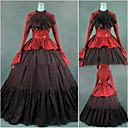 cheap Historical & Vintage Costumes-Gothic / Victorian / Medieval Costume Women's Dress / Party Costume / Masquerade Red Vintage Cosplay Cotton / Other Long Sleeve Cap Sleeve