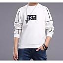 billige Topper til gutter-Barn Gutt Helfarge Langermet Bomull T-skjorte