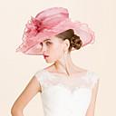 رخيصةأون قطع رأس-الأورجانزا قبعات مع 1 زفاف / مناسبة خاصة / فضفاض خوذة