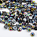 cheap Rhinestone & Decorations-colorful resin pearls stones nail art decorations flashes nail art design about 300pcs set