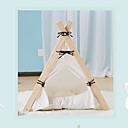 abordables Collares, Arneses y Correas para Perros-Gato Perro Camas Mascotas Cojín y Almohadas Un Color Impermeable Portátil Transpirable Tienda Blanco