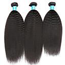 olcso Természetes színű póthajak-3 csomag Perui haj Göndör egyenes Szűz haj Az emberi haj sző 8-14 hüvelyk Emberi haj sző Human Hair Extensions