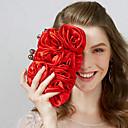 abordables Lacets-Femme Fleur Nylon Pochette Noir / Rouge / Abricot / Automne hiver