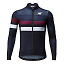 cheap Rhinestone & Decorations-Mysenlan Men's Long Sleeve Cycling Jersey - Dark Blue Horizontal Strips Bike Jersey, Breathable Quick Dry Polyester