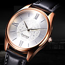 cheap 3D Puzzles-YAZOLE Men's Wrist Watch Casual Watch / Cool Leather Band Flower / Casual / Fashion Black / Brown / SSUO 377