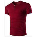 preiswerte Hundekleidung-Herrn Solide Einfarbig Sport Baumwolle T-shirt, Rundhalsausschnitt
