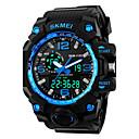 Недорогие Армейские часы-SKMEI Муж. Спортивные часы электронные часы Цифровой силиконовый Черный Будильник Календарь Cool Аналого-цифровые Красный Синий Золотистый Два года Срок службы батареи / Maxell626 + 2025