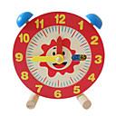 baratos Brinquedos de Leitura-Brinquedo de madeira do relógio Relógio Educação Para Meninos Para Meninas Brinquedos Dom