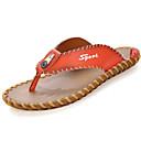cheap Men's Sandals-Men's PU(Polyurethane) Spring / Summer Comfort Slippers & Flip-Flops Walking Shoes White / Black / Orange