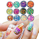 cheap Nail Glitter-12 box manicure horse eye drop shaped colorful sequins glue nail polish color nail decoration