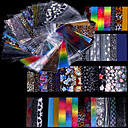 billige Jul Nail Art-48 pcs Nail Foil Striping Tape Negle kunst Manicure Pedicure Mode Daglig / Folie Stripping Tape