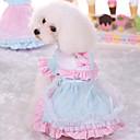 billige Hundeklær-Hund Kjoler Hundeklær Prinsesse Rosa Lyseblå Bomull Kostume For kjæledyr Dame Søtt Fritid/hverdag