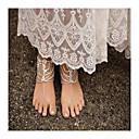 halpa Nilkkaremmi-Helmi Barefoot-sandaalit - Tekohelmi Riippua Muoti Kulta / Hopea Käyttötarkoitus Päivittäin / Kausaliteetti / Naisten / Tekojalokivi