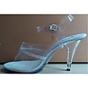 זול סנדלי נשים-בגדי ריקוד נשים נעליים נצנצים / PVC קיץ / סתיו עקבים עקב סטילטו / עקב קריסטל ריינסטון / קריסטל לבן / נעלי מועדון / מסיבה וערב
