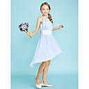 preiswerte PS4 Zubehör-Eng anliegend Schmuck Asymmetrisch Chiffon Junior-Brautjungferkleid mit Paillette durch LAN TING BRIDE® / Normal