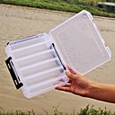 "cheap Fishing Lures & Flies-Fishing Tackle Boxes Lure Box 2 Trays Plastics 20*6 3/4"" (17 cm)*4.5"