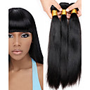 cheap Ombre Hair Weaves-Brazilian Hair Straight Virgin Human Hair Natural Color Hair Weaves 4 Bundles 8-28 inch Human Hair Weaves Silky / Extention / Natural Black / Medium Auburn / Black / Dark Wine / Natural Black Human