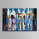 billige Abstrakte malerier-Hang malte oljemaleri Håndmalte - Abstrakt Abstrakt Lerret