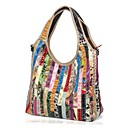 cheap Totes-Women's Bags Cowhide Shoulder Bag Split Joint Rainbow